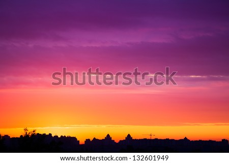 early morning multicolored summer  sunrise in Kiev, Ukraine #132601949