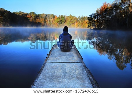 Early Morning Solitude on Lake Norman Stock photo ©