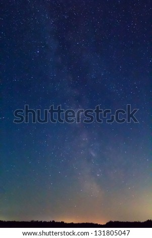 early morning starry sky