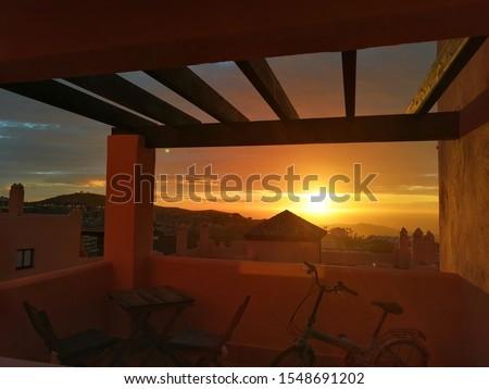 Early morning sunrise over Mijas Costa