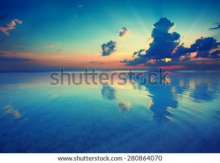 Early morning, sunrise over sea #280864070