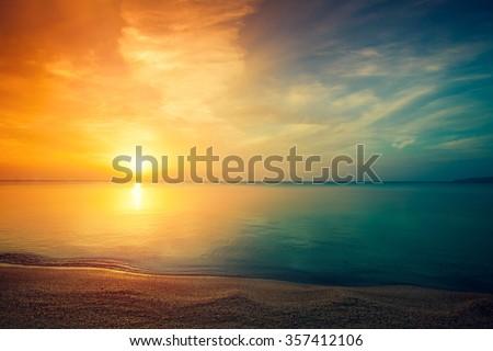 early morning  sunrise over sea