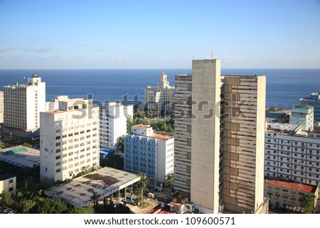 Early morning view over Havana Cuba