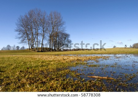 Early spring in park, Sweden - stock photo