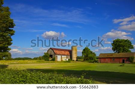 Early summer Ontario farm scene
