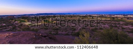 Early sun rises over the Arizona desert.