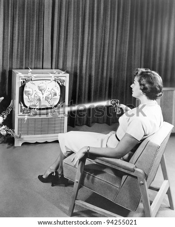 early zenith remote control tv...