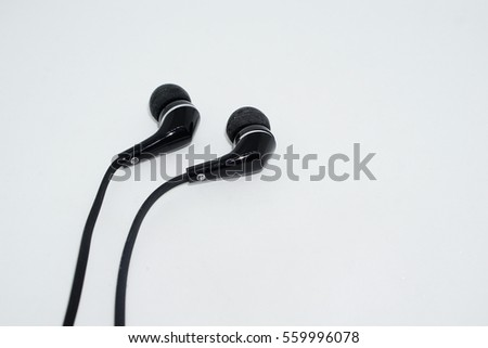 Earphone on a white background #559996078
