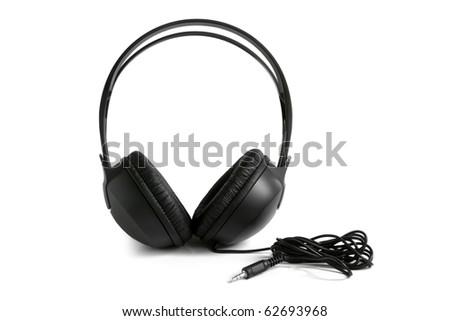 Earphones on the white background