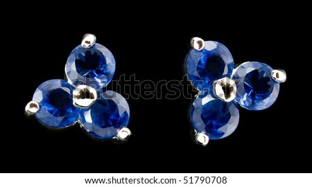 earring with stones