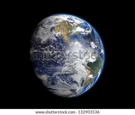 Earth - America - Elements of this image furnished by NASA