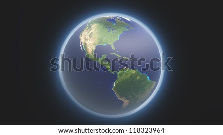 Earth and atmosphere Elements of this image furnished by NASA