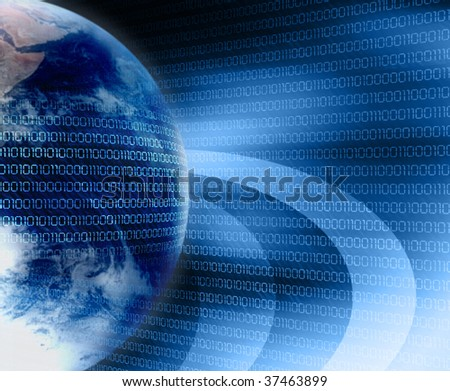 earth and digital code