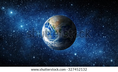 Earth and galaxy. Elements of this image furnished by NASA. #327452132