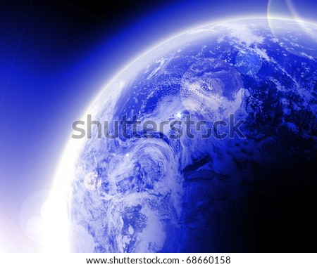 Earth as seen in far outer space