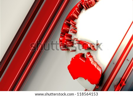 Earth Background glow red