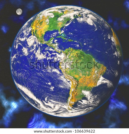 Earth blue planet in space Elements of this image furnished by NASA