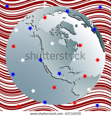 earth celebration of 4th july, abstract art illustration