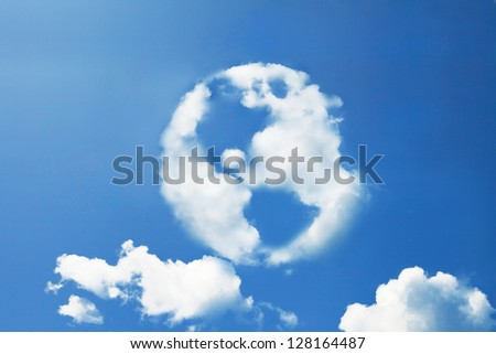 earth cloud shape