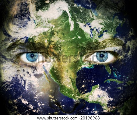 Earth Day. Eyes of the World