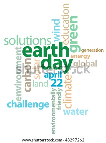 Earth Day Graphic Text Background