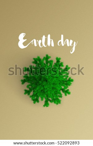 earth day on color background