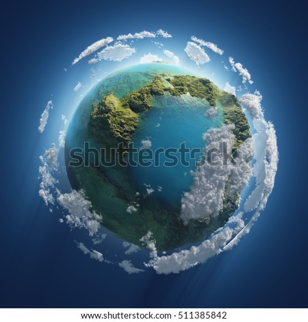 earth day  small planet in the...