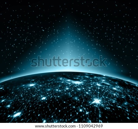 Earth from Space. Best Internet Concept of global business from concepts series. Elements of this image furnished by NASA. 3D illustration #1109042969