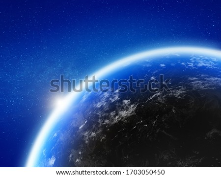 Earth from space. Elements of this image furnished by NASA. 3d rendering Сток-фото ©