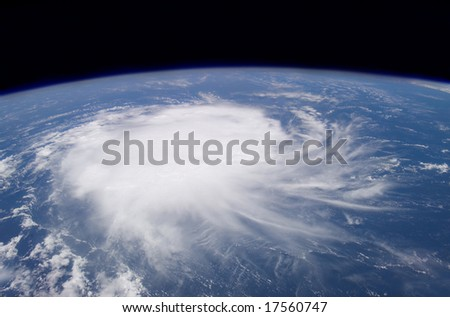 Earth from space with Hurricane