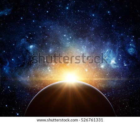 earth  galaxy and sun. elements ...