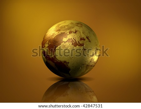 Earth globe - 3D computer graphics