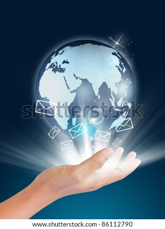 earth globe in hands