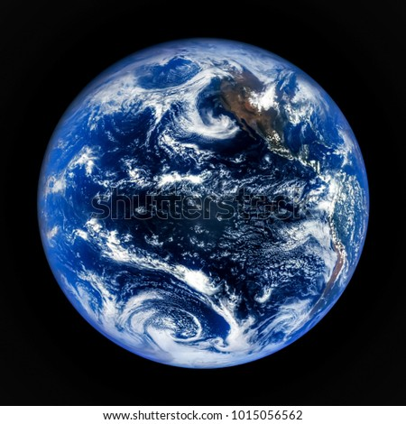 Earth globe isolated on black background. The world is planet earth and all life upon it. Earth is the third planet from the Sun.Design for Education, Science. Elements of this image furnished by NASA