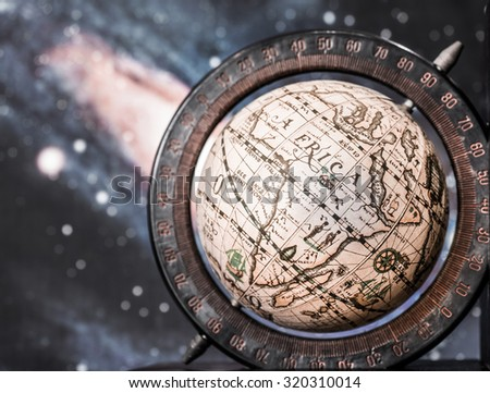 earth globe showing continent...