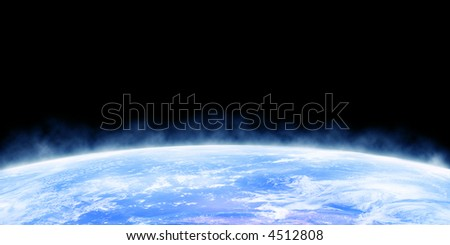 Earth horizon as seen from outer space