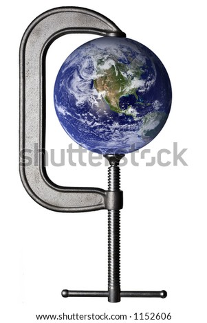 Earth in a clamp - stock photo