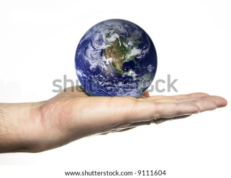 earth in palm of hand