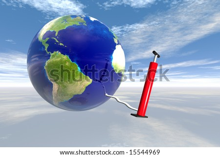 Earth in sky with air pump map courtesy nasa