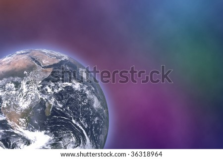 Earth in space, photo of the Earth from NASA