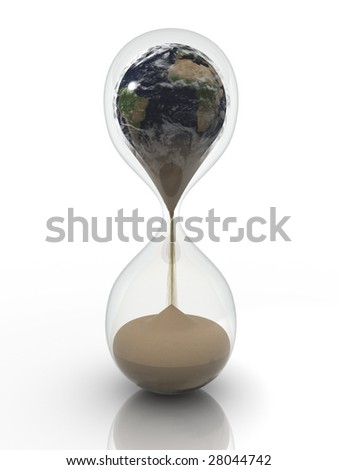 earth in the send-glass. 3d rendering image