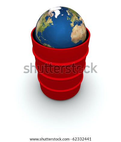 Earth inside a 55 gallon drum