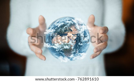 Earth on hands, enviroment