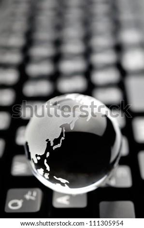 earth on keyboard