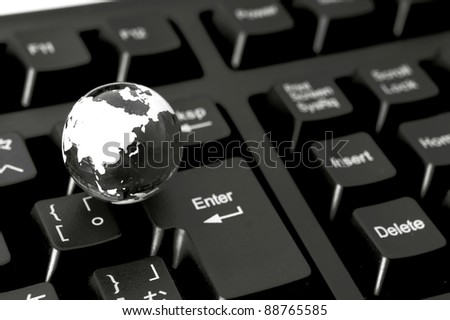 earth on keyboard