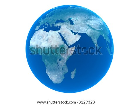 Earth over white background ( see more in my portfolio)