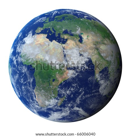 Earth Planet (clipping path)