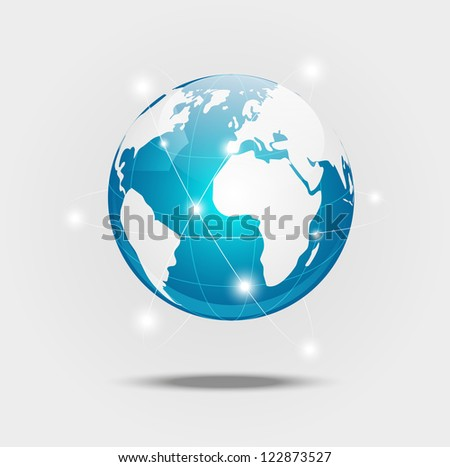 Earth planet - concept of global communication