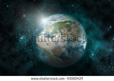 Earth  planet - 3D computer graphics