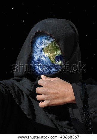 Earth protecting herself - concept/symbol